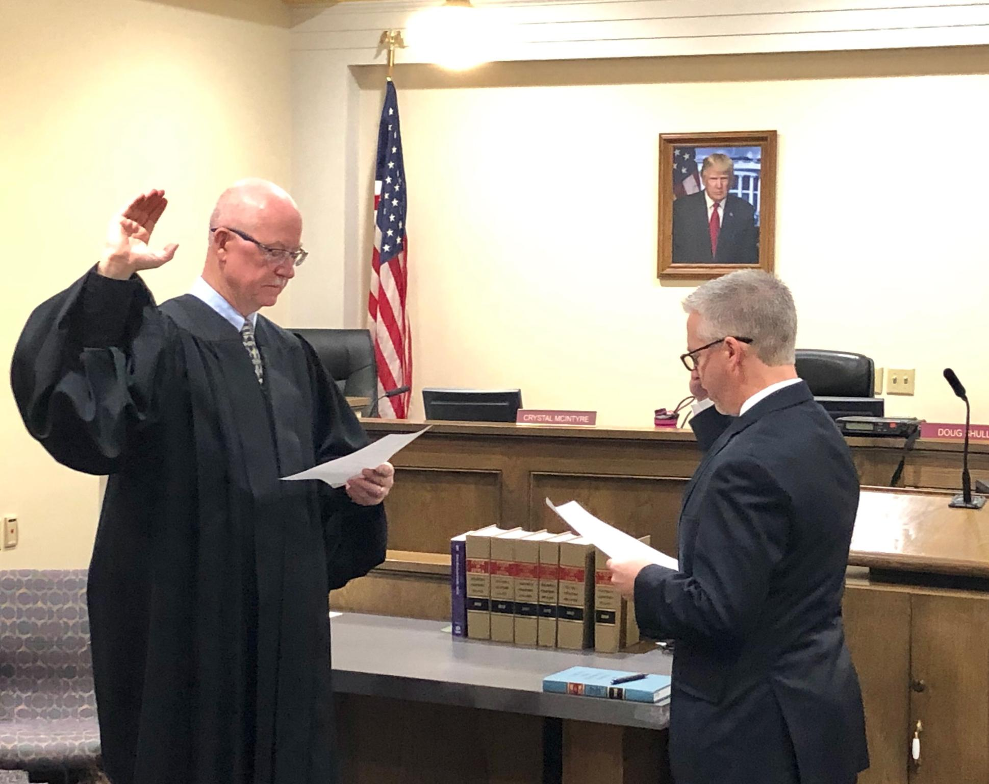 Doug Eichholz Taking Oath